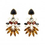 LIZZIE FORTUNATO- Paradise Crystal Statement Earrings