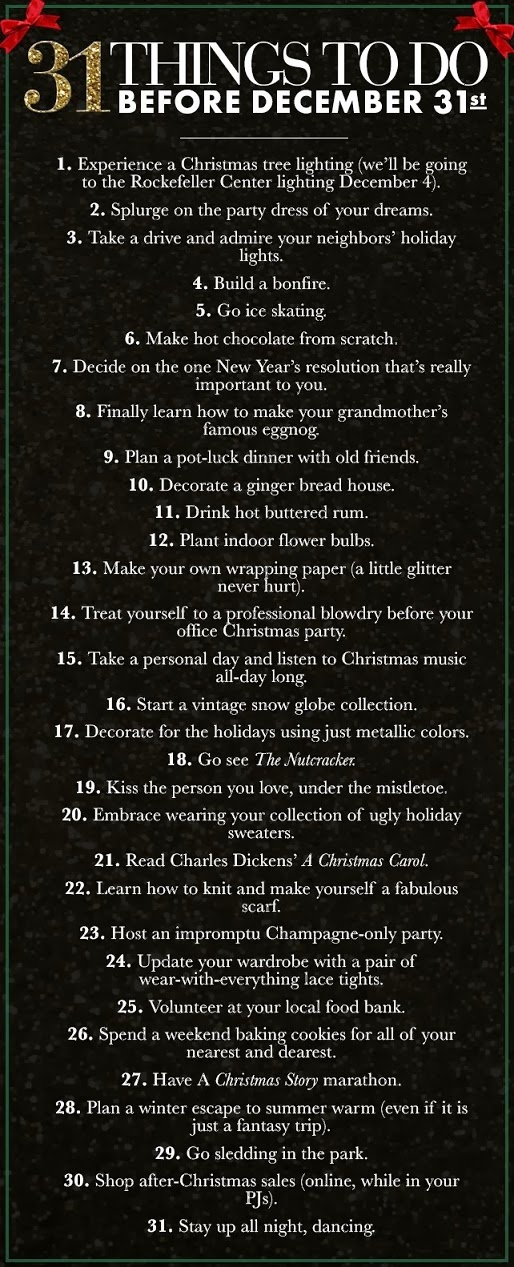 30+1 things to do before christmas