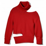 MONSE – Red Cut-Out Turtleneck Sweater