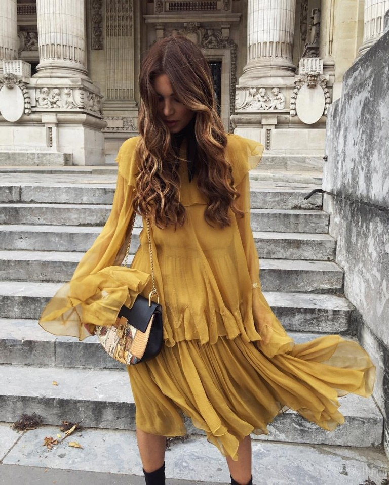 streetstyle-yellow-dress